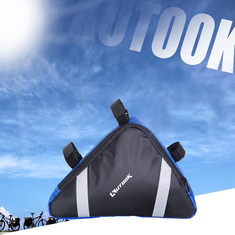 KUTOOK Waterproof Triangle Bicycle Bags Front Tube Frame Bag MTB Bike Pouch  Frame Holder Bike Accessories 9bc1f31c3fe3