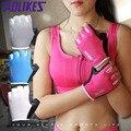 1 Par Mujeres/Hombres antideslizantes Transpirable Guantes de Gimnasio Body Building Training Deportes de Fitness Con Mancuernas Ejercicio de Levantamiento de Peso guantes