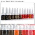 Chuse j01-01-13 semi maquillaje permanente pigmento 12 colores de tinta del tatuaje kit 10 ml microcuchilla suministro para labio de la ceja del tatuaje