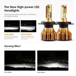 Image 5 - Oslamp H4 H7 H11 9005 9006 רכב LED פנס נורות Hi lo קרן SMD שבב 70W 7000LM 6500K 12v 24v אוטומטי Led פנס המכונית אור הנורה