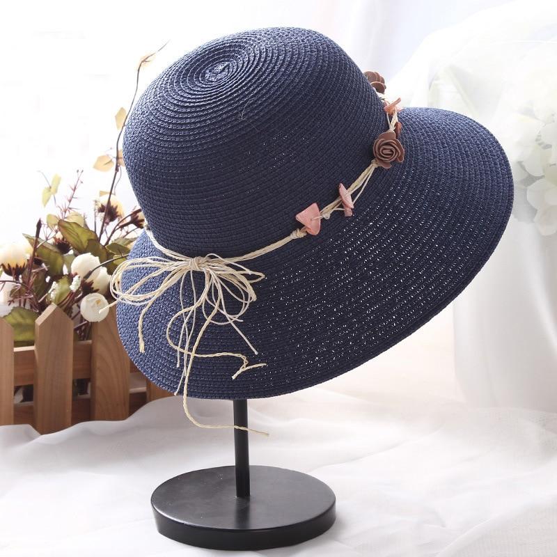 Women's Hats Obliging Ht1309 Wholesale Summer Hat 2017 New Fashion Women Sun Hats Ladies Wide Brim Beach Hats Foldable Straw Bucket Hats Floppy Panama Numerous In Variety Women's Sun Hats