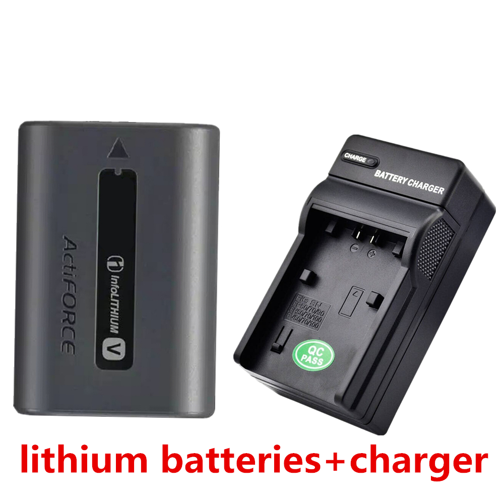 NP-FV70 NP FV70 lithium batteries+charger NPFV70 Digital camera battery For Sony NP FV70 FV50 HDR CX150E CX170 CX760 PJ760 PJ790 np f960 f970 6600mah battery for np f930 f950 f330 f550 f570 f750 f770 sony camera