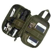 Férfi Ujjatlan Pocket Szervező EDC MOLLE Military Waist Packs Női Pocket Bag táska Nylon Fanny csomag Érme kulcstartók
