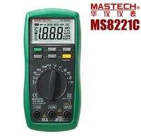 MASTECH MS8221C Autorange הדיגיטלי מודד AC-DC וולט אמפר אוהם קיבוליות טמפ ידני אוטומטי החל DMM