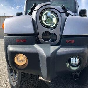 Image 5 - 2x30W puce Led 4 pouces blanc rond antibrouillard lentille projecteur 4 antibrouillard pour tout terrain Jeep Wrangler Dodge Chrysler