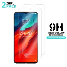 2 Pcs Tempered Glass For Lenovo Z6 Pro Glass Screen Protector 2.5D 9H Premium Tempered Glass For Lenovo Z6 Pro Protective Film voongson 2 5d 9h screen protector for lenovo a806 a8 tempered glass for lenovo a 806 a808 a808t phone protective toughened glass