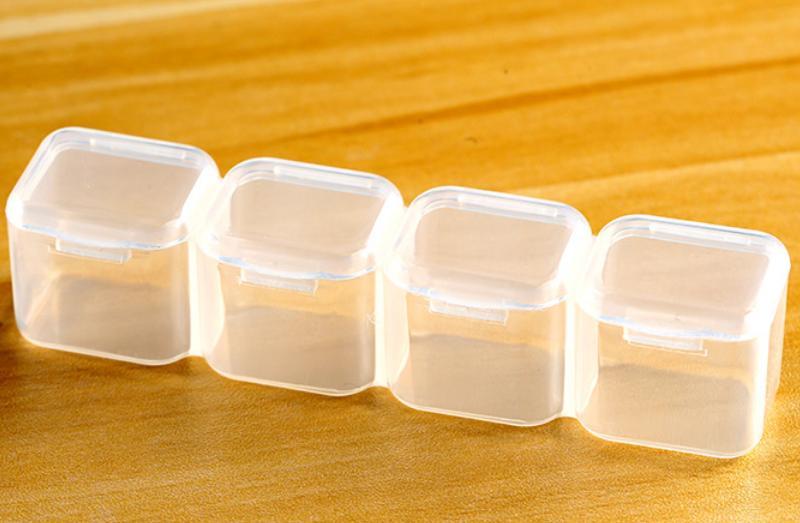 Хранения 28 решетки Ювелирные Коробка для хранения отделка защита от пыли решетки прозрачный сверла медицина коробка бисер Кнопка 1853