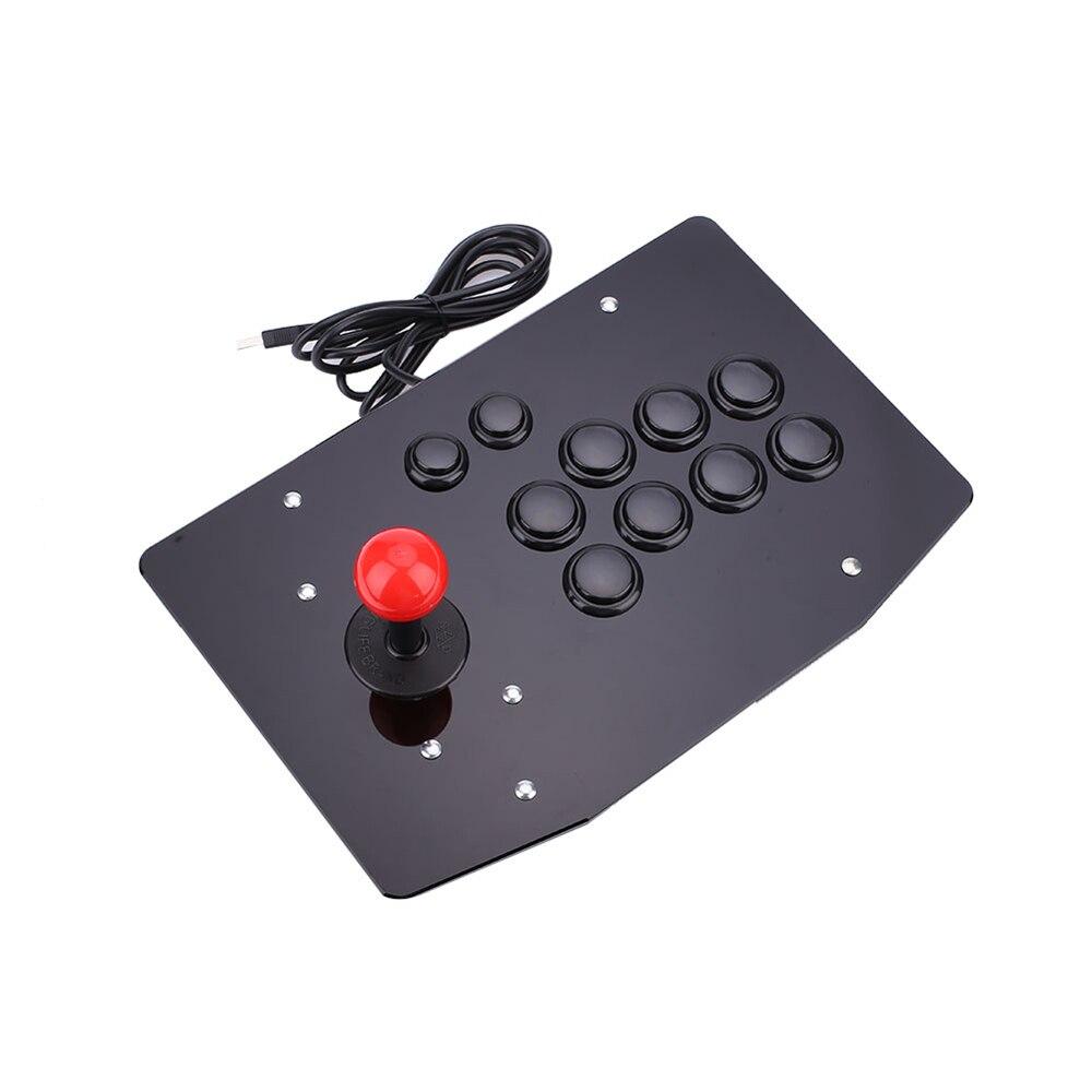 Contrôleur de jeu de manette de combat d'arcade USB filaire acrylique Cewaal manette de jeu PC de jeu vidéo