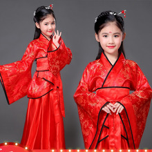 Традиционная древняя одежда; сказочные китайские танцевальные костюмы в народном стиле; hanfu; платье для девочек; Детский костюм династии Тан