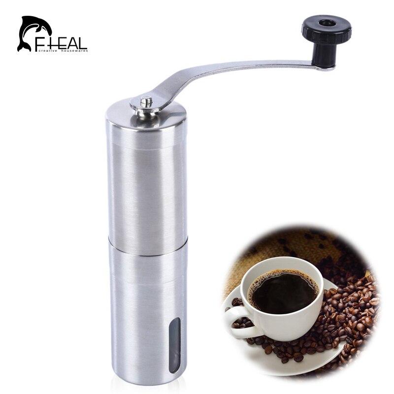FHEAL Manual Coffee Grinder Stainless Steel Ceramic Burr ...