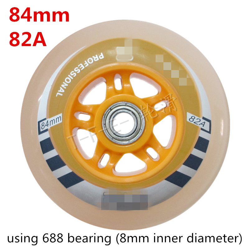 84mm 82A High Rebound Inline Speed Skates Wheel for Powerslide for MPC for CITYRUN Speed Racing