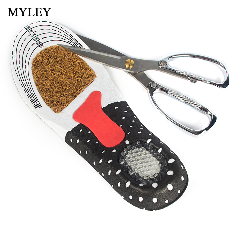 MYLEY Insoles Feet Care Sport Insoles Shock Absorption Pads Orthotic Arch Support Anti-Slip Soft Insole Pad For Men and Women