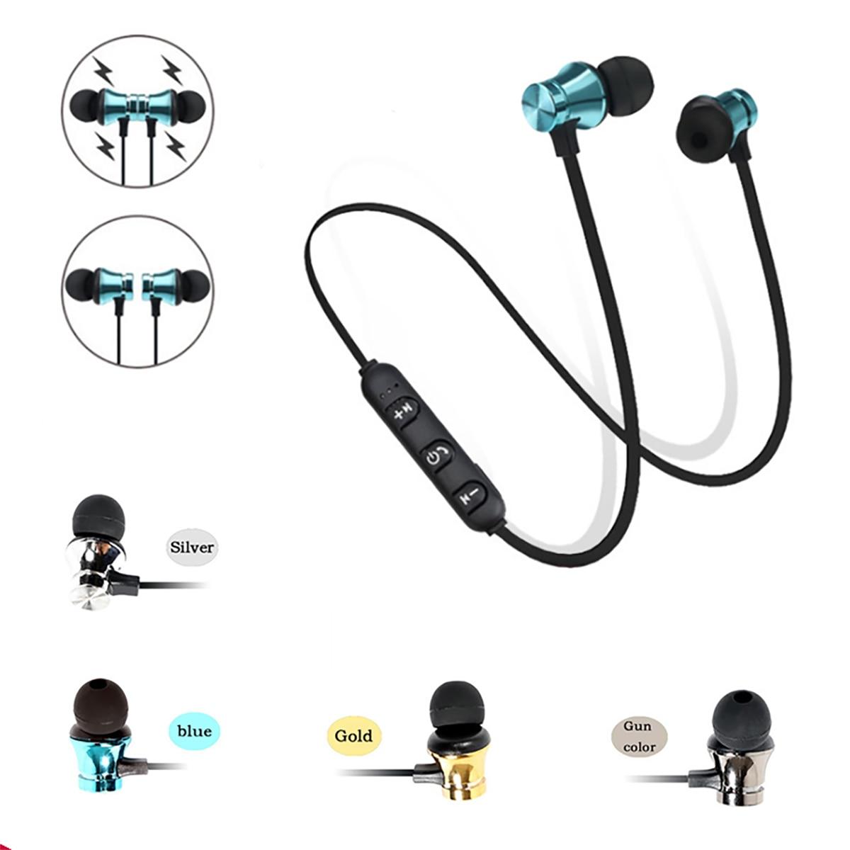 Bluetooth Earphone Sport Handsfree <font><b>Headphones</b></font> Wireless Earphones Magnetic Headset With Microphone For Mobile Phones Xiaomi
