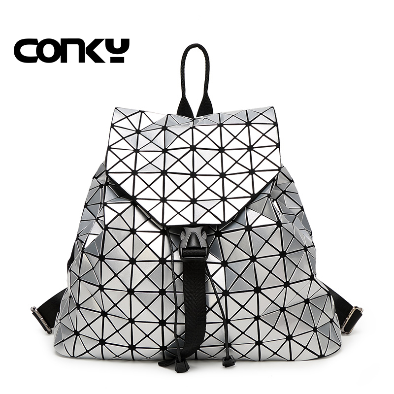 2016 New Fashion Women Pearl Bag Diamond Lattice Tote Geometry Quilted Backpack Geometric Mosaic Backpack 2015 hot fashion top top quality same as baobao 1 1 women s lattice geometry quilted handbag geometric mosaic totes bag6 6