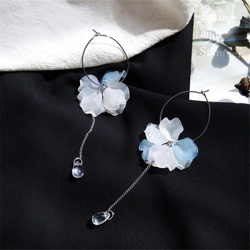 New frosted temperament petals ear ring simple fashion to long retro earrings girl accessories