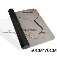 ESD Anti static Big Desk Pad Maintenance Platform Ground wire ESD FOR Repair Work Mats 700 x 500mm
