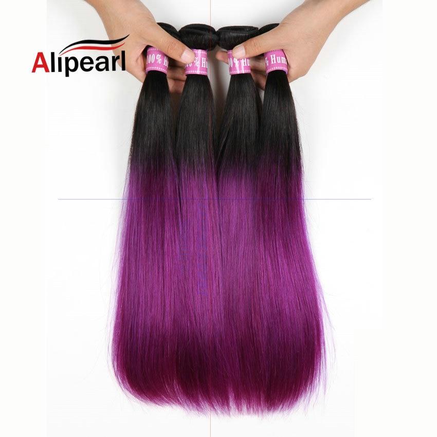 Alipearl Hair Two Tone Blond Ombre 1b Purple Brazilian
