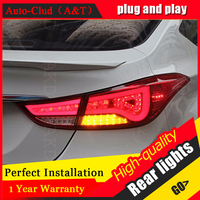 Auto Clud Car Styling for Hyundai Elantra Taillights BMW Design New Elantra LED Tail Lamp Rear Lamp DRL+Brake+Park+Signal led li