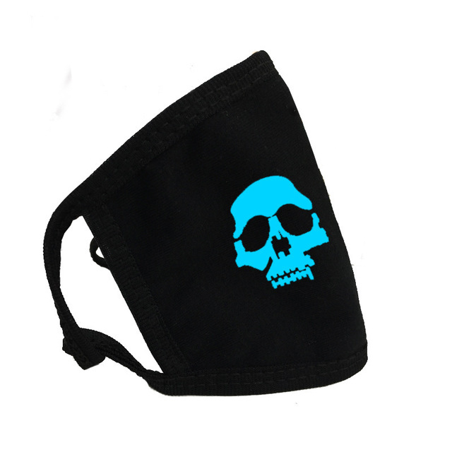 Luminous Fashion Face Personality Mask Cotton Fabric Breathable Warm Letter Printing Pustproof Windproof Cold Unisex 4