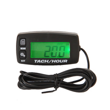 Купить с кэшбэком Free Shipping!Digital Resettable Inductive Tacho Hour Meter Tachometer For Motorcycle Marine Boat ATV Snowmobile Generator Mower