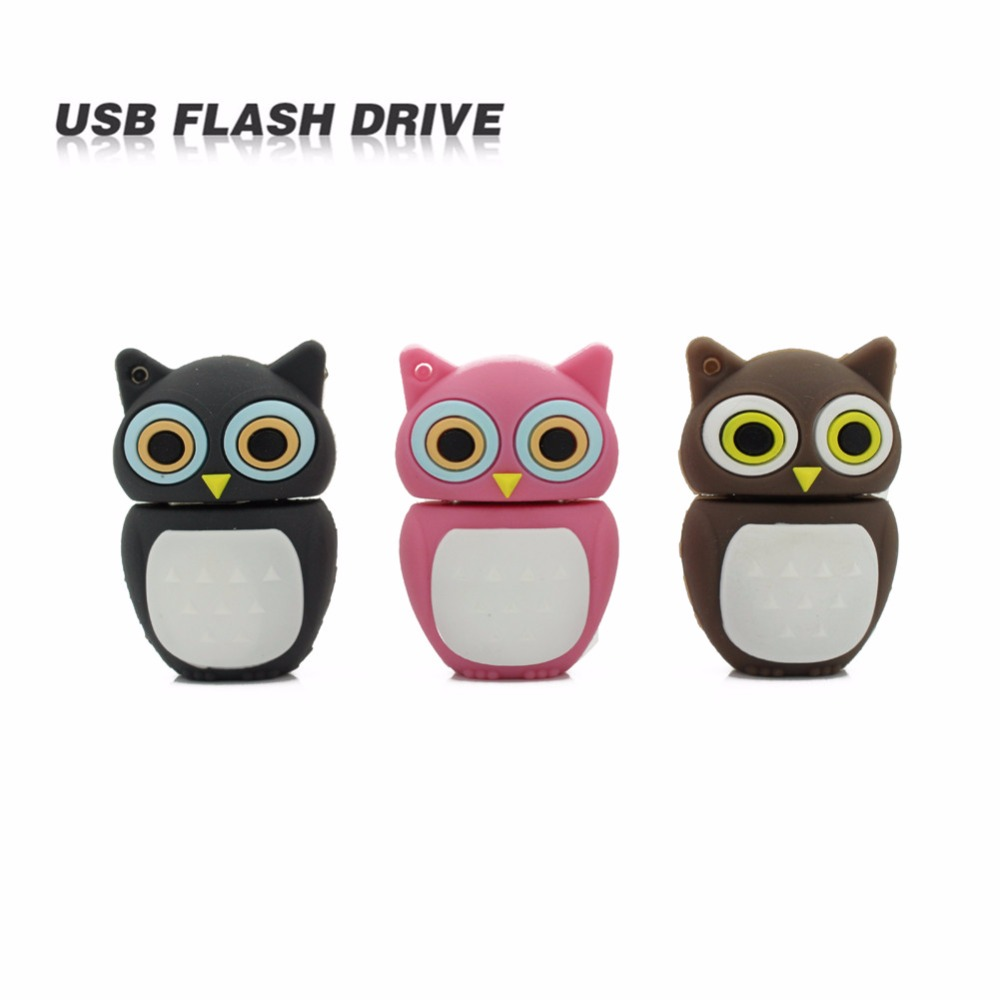 Cute Usb Flash Drive Pen Drive 4gb 8gb 16gb 32gb Pendrive USB 2.0 Memory stick U disk lovely OWL Animal Cartoon Creative Gift