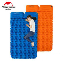 Naturehike 1-2 Person Outdoor Camping Mat Egg Slot Inflatable Mattress Ultralight Tent Bed Sleeping Pad With Pillow