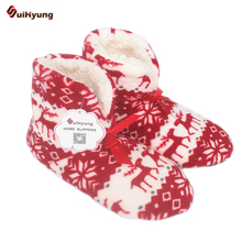 Suihyung Hot Women Winter Warm Home Slipper Indoor Shoes Reindeer Design Thermal Cotton-padded Shoes Bedroom Floor Slippers Bota