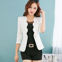 Spring Fall The New Female Coat Slim Small Suit Dress Short Korean Temperament  Blazer Women Wave V-neck  Veste Femme Blazer 663