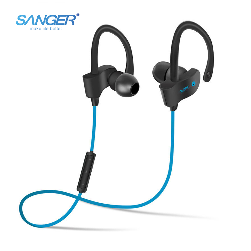 SANGER New Wireless Earphone Bluetooth 4.1 Headset Headphone Bluetooth Earpiece Sport Running Stereo Earbuds With Microphone
