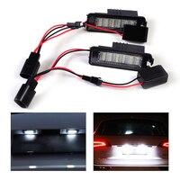 DWCX 2pcs White Error Free 18 LED License Plate Light Lamp Kit For VW Golf MK4