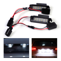 DWCX 2pcs White Error Free 18 LED License Plate Light Lamp Kit For VW Golf MK4