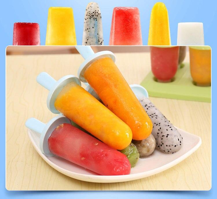 1Set Evdə Dondurma Popsicle Kalıp Yaradıcı Yay Dondurma qutusu - Mətbəx, yemək otağı və barı - Fotoqrafiya 3