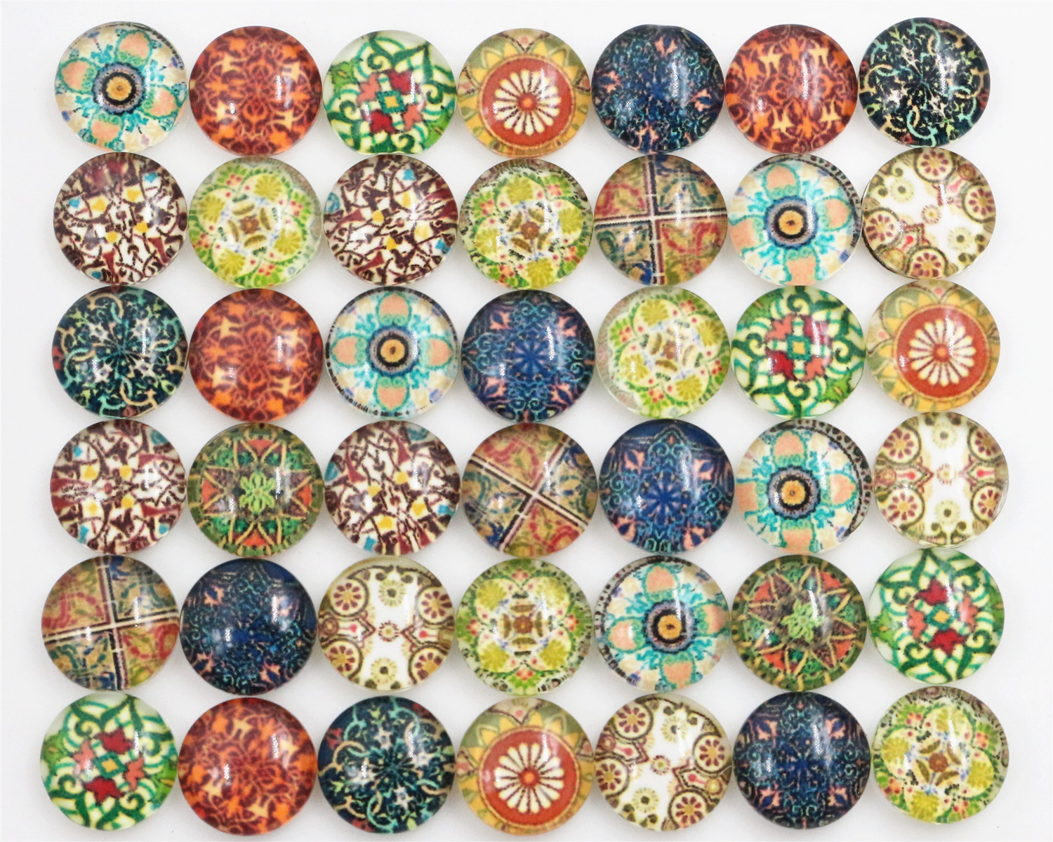 New Fashion Hot Sale 50pcs 8mm Mixed Colors Totem Flower Style Handmade Photo Glass Cabochons-C7-42New Fashion Hot Sale 50pcs 8mm Mixed Colors Totem Flower Style Handmade Photo Glass Cabochons-C7-42