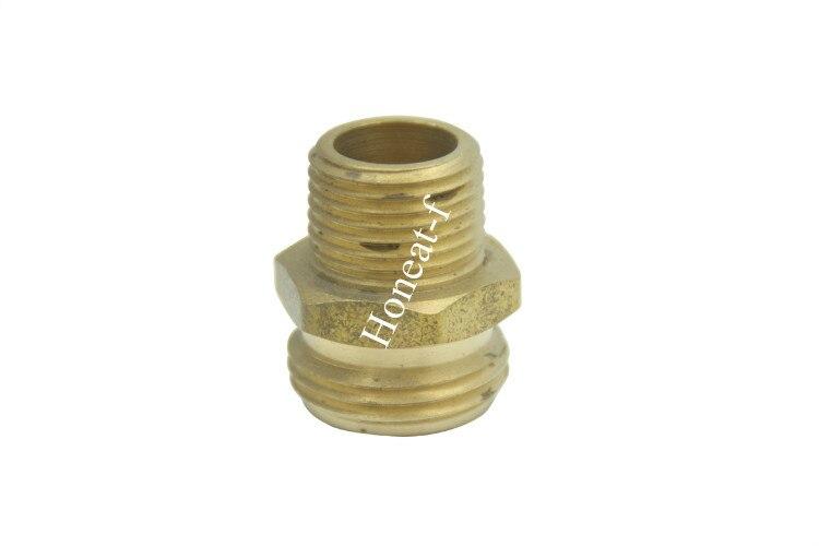 LTWFIITING 3/4 MHT x 3/8 MIP Brass Hose Adapter ,Brass Garden Hose Fitting hose hugger max 3 x 34