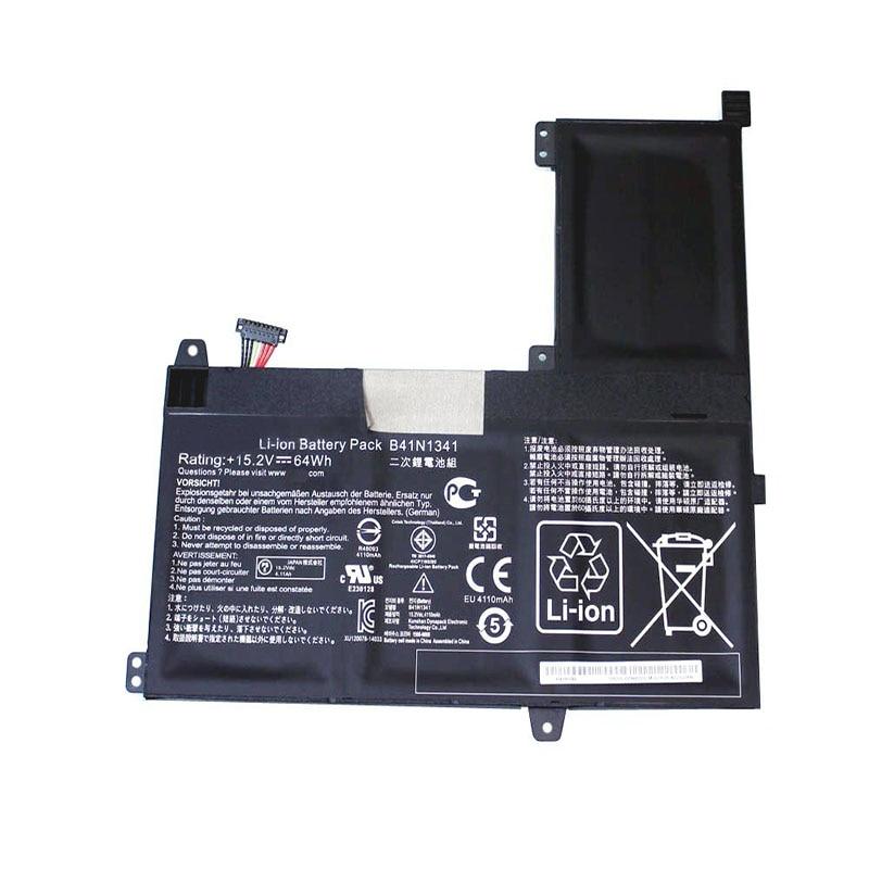 LAPTOP BATTERY B41N1341 (15.2V 64Wh 4110MAH ) For Asus Q502 Q502LA Series Q502LA-BBI5T12 Q502LA-BBI5T14 Q502LA-BBI5T15