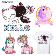 ZOTOONE Pink Girl Stripes Iron on Transfer Patches Clothing Diy Patch Heat for Clothes Decoration Sticker Printed G