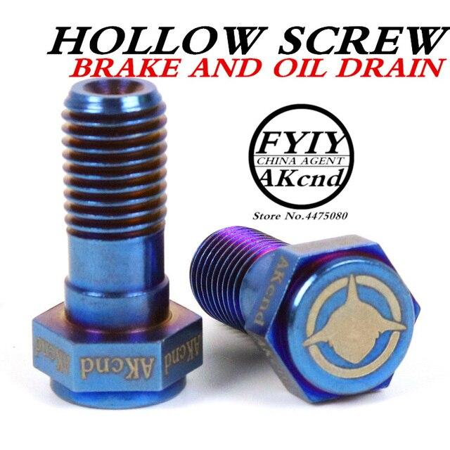 AKCND Motorcycle brake Caliper banjo bolt Oil Drain Screw/Hollow Screw M10x1.25mm For Brake hose Caliper Master Cylinder