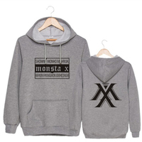 Mainlead Kpop MONSTA X Group Japan Concert HYUNGWON IM WONHO Suit hoody Outerwear Hat