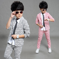 2016 Spring Autumn Gentleman Suit Jackets Jeans Baby Boys Clothes For Kids Designer Childrens Clothing Set