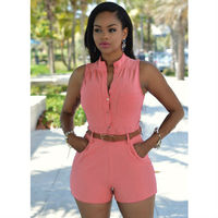 14 Colors Crazy Hot Sale Women Shorts Solid Rompers Women Jumpsuit Summer Elegant Sexy Jumpsuit