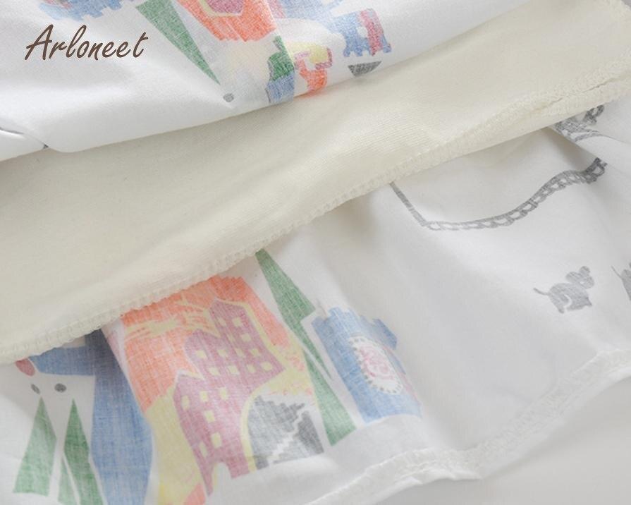 Arloneet Bbay Обувь для девочек Платья для женщин одежда милое белое платье с героями мультфильмов для девочек платье принцессы P30 nov03