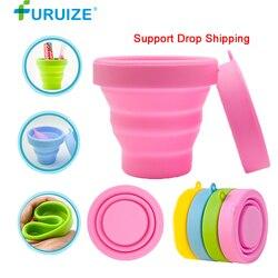 Vaso de esterilización Menstrual plegable de silicona flexible para limpiar la copa Menstrual reciclable para acampar taza esterilizadora plegable