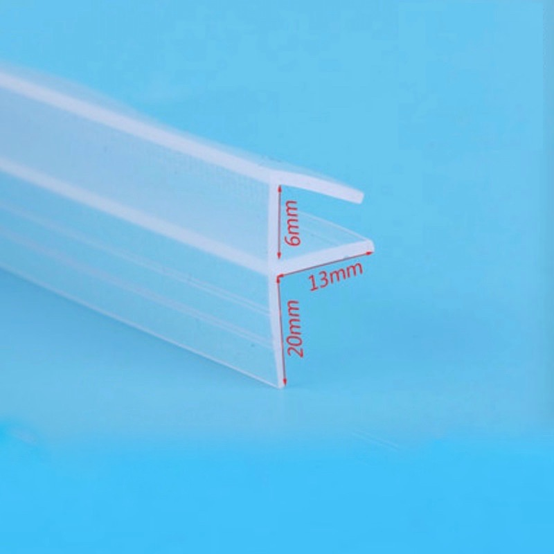 6 8 10 12mm Glass Seals Frameless Shower Door Window Balcony Screen Sealing Strip Weatherstrip Draft Stopper 3m Big F in Sealing Strips from Home Improvement
