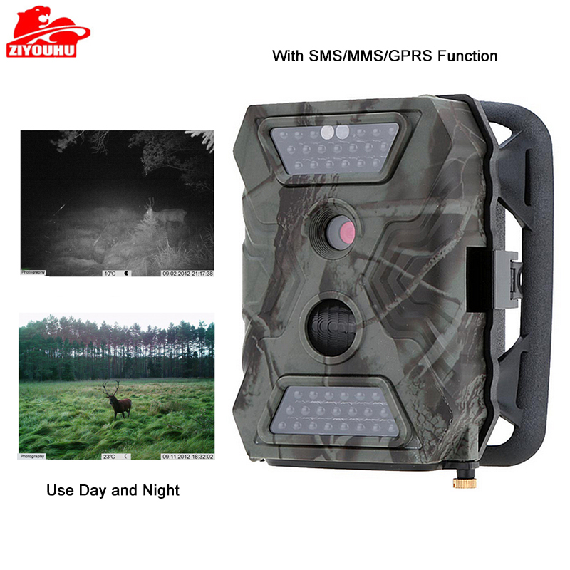MMS Hunting Camera Trail Hunt Game Recorder 12MP HD Imaging IR LED Light Day & Night Available Forest Scouting Wildlife Camera-in Hunting Cameras from Sports & Entertainment