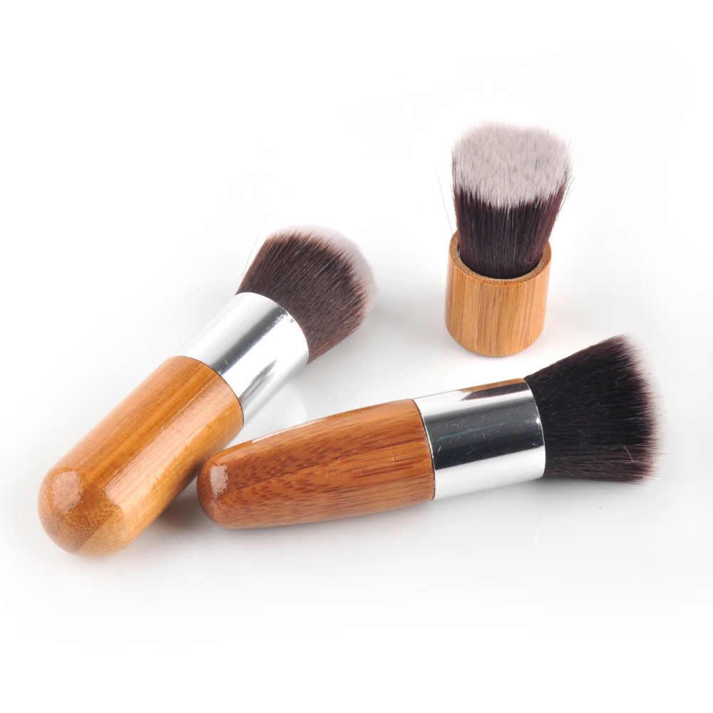 11 pçs/set Bamboo Handle Pincéis de Maquiagem Profissional Fundação Eyeshadow Blush Maquiagem Cosméticos Brushes Set Kit Bolsa 11 pçs/set