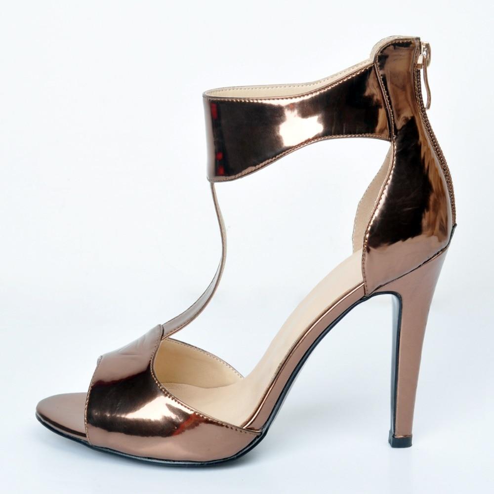 ФОТО New Popular Women Sandals Nice Peep Toe Thin Heels Sandals Stylish Khaki Shoes Woman Plus US Size 4-15