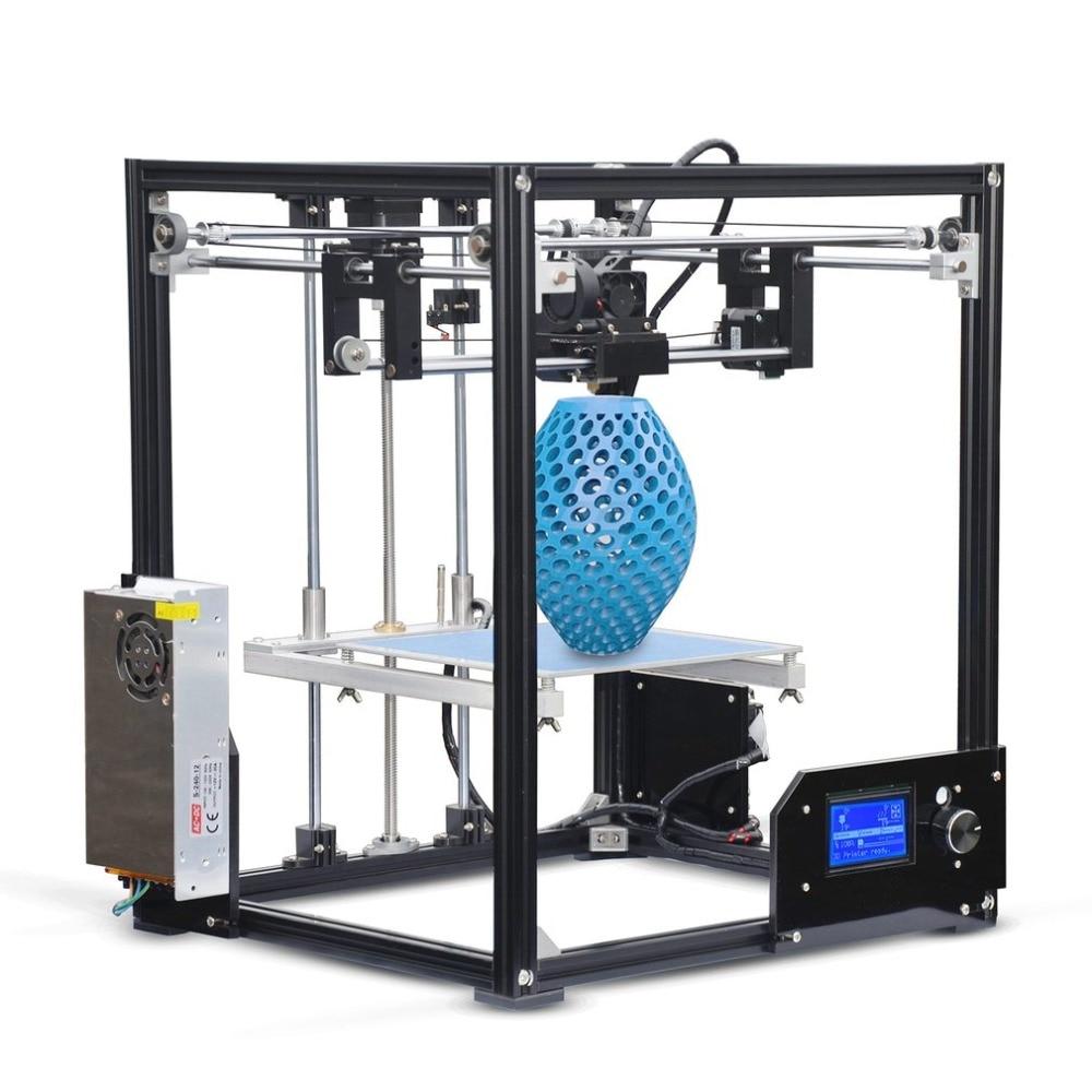 TRONXY 5X High Performance 210*210*280mm Print Size X5 DIY 3D Printer Professional High-Precision Printing Machine for XP/MAC/7 upgarded aluminium cube 3d printer kits bapasco x5 full metal extrusion high precision 12864p lcd big printing size 210 210 280