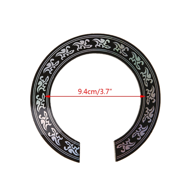 Купить с кэшбэком Hard PVC Circle Sound Hole Rosette Inlay for 38 39 inch Acoustic Guitars Decal