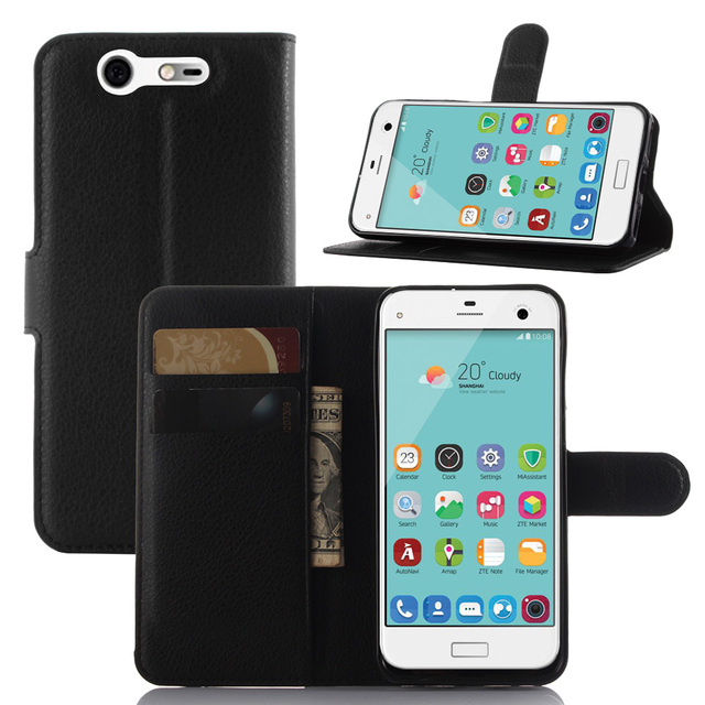 For ZTE BLADE S6 S6 Lux S7 Blade VEC G LUX Q LUX 4G Apex 2 case Lychee leather wallet cases stand phone case cover