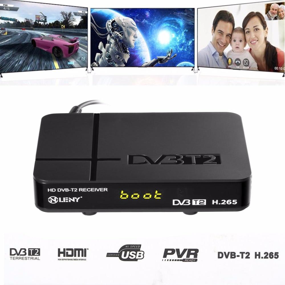 ONLENY Schwarz High Definition Digitalen Terrestrischen HDMI 1080 P DVB-T/T2 Protokoll H.265 TV Box VGA AV Tuner Receiver